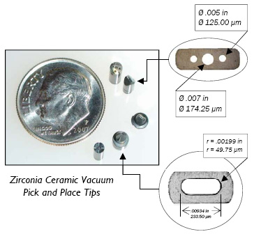 Zirconia Ceramic Vacuum Pick and Place Tips